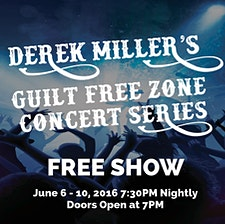 The Guilt Free Zone Concert Series logo