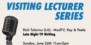 Visiting Lecturer Series: Late Night TV Writing with...