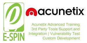 E-SPIN Acunetix Advanced Training: 3rd Party Tools...
