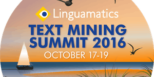 Linguamatics Text Mining Summit, October 2016