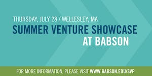 2016 Babson Summer Venture Showcase Wellesley
