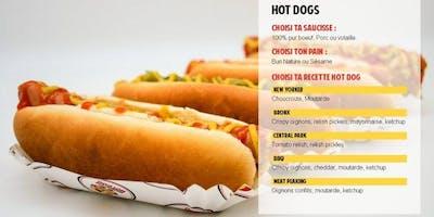 Le Vendredi : Menu Hot Dogs Manhattan