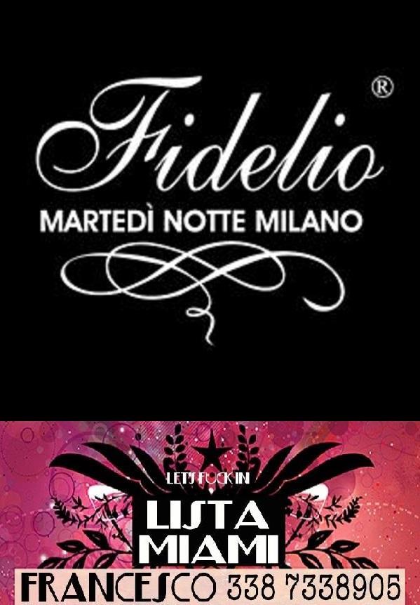 FIDELIO THE CLUB MILANO - MARTEDI 20 FEBBRAIO