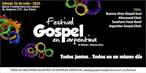21hs. Festival Gospel en Argentina 2016