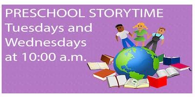 PRESCHOOL STORYTIME (Tuesday)