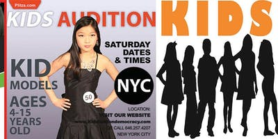 event in New York City: KIDS FASHION SHOW AUDITION - KIDS 4 TO 8 YEARS OLD FASHION SHOW CASTING CALL AUDITION IN NYC