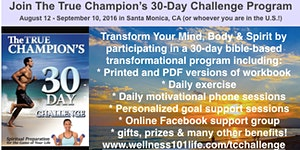TRUE CHAMPIONS 30-DAY CHALLENGE PROGRAM AUGUST 12 TO...