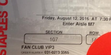Adele Friday Night 8/12/16 Section 107 $700 tickets