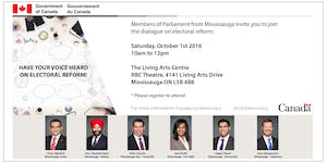 Electoral Reform Consultation with your Mississauga MPs