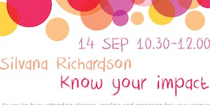 """""""Know Your Impact"""" by Silvana Richardson (I.S.P. """"JVG"""")"""