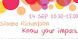 """Know Your Impact"" by Silvana Richardson (I.S.P. ""JVG"")"