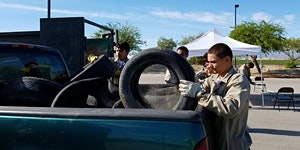 Mecca Tire Recycling Collection Event