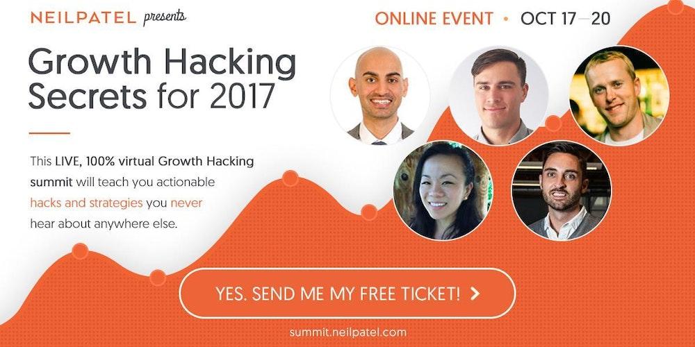 Neil Patel Presents: Growth Hacking Secrets for 2017 [Riverside - Virtual Event]