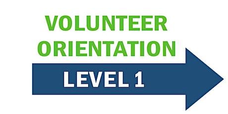 Level 1- New Volunteer Orientation tickets