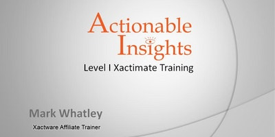 Xactimate Lvl I Certification Training