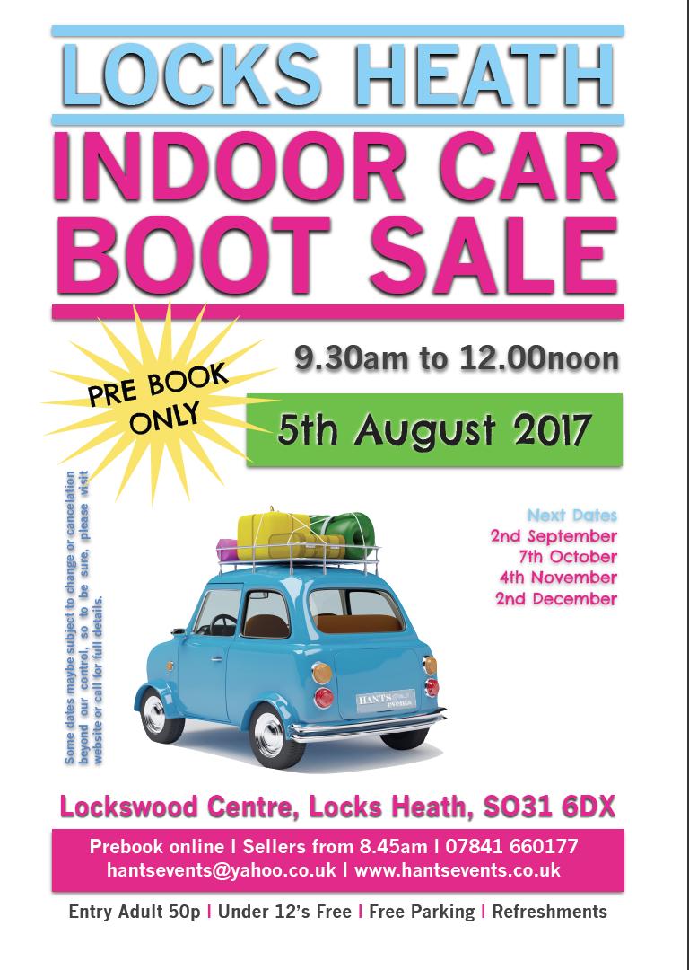 Locks Heath Indoor Car Boot Sale (August)