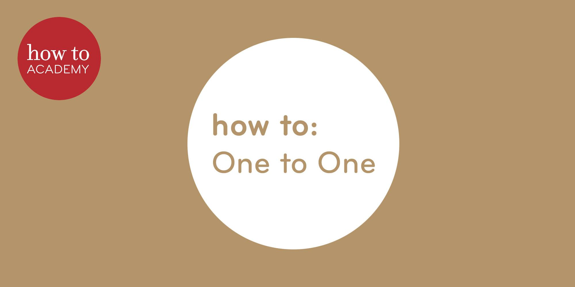 Emma Hill-French One to One: how to: Focus your Mind