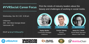 #YVRSocial Social Media Event - Career Focus