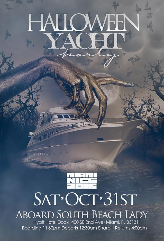 MIAMI NICE 2017 ANNUAL HALLOWEEN YACHT PARTY