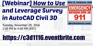 [Webinar] How to Use and Leverage Survey in AutoCAD...
