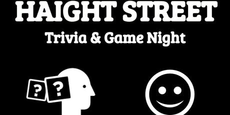 Haight Street Trivia, Comedy, Gaming & FREE Pizza Night! tickets