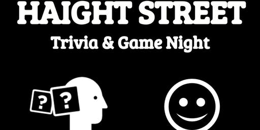Haight Street Trivia, Comedy, Gaming & Karaoke Night!