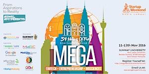 Mega Startup Weekend Kuala Lumpur 11 Nov-13 Nov2016
