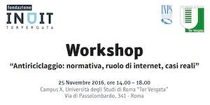 """Workshop  """"Antiriciclaggio: normativa, ruolo di..."""