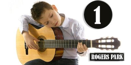 ROGERS PARK: Clases de Guitarra (Nivel 1-INVIERNO) edades 9-14—Sábados 3pm, Ene 7 - Mar 25, 2017 tickets