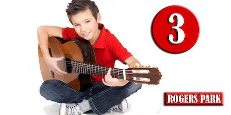 ROGERS PARK: Clases de Guitarra (Nivel 3-INVIERNO) edades 9-14—Sábados 5pm, Ene 7 - Mar 25, 2017 tickets