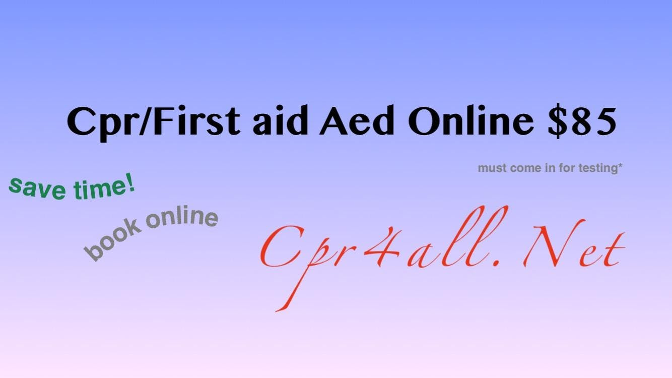 Cprfirst Aidaed Course W Certification And Skills Test 16 Oct 2018