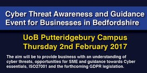Cyber threat awareness and guidance event for...
