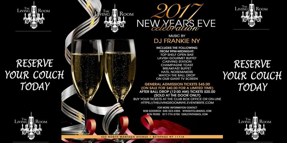 New Years Eve At The Living Room Tickets Sat Dec 31 2016 900 PM