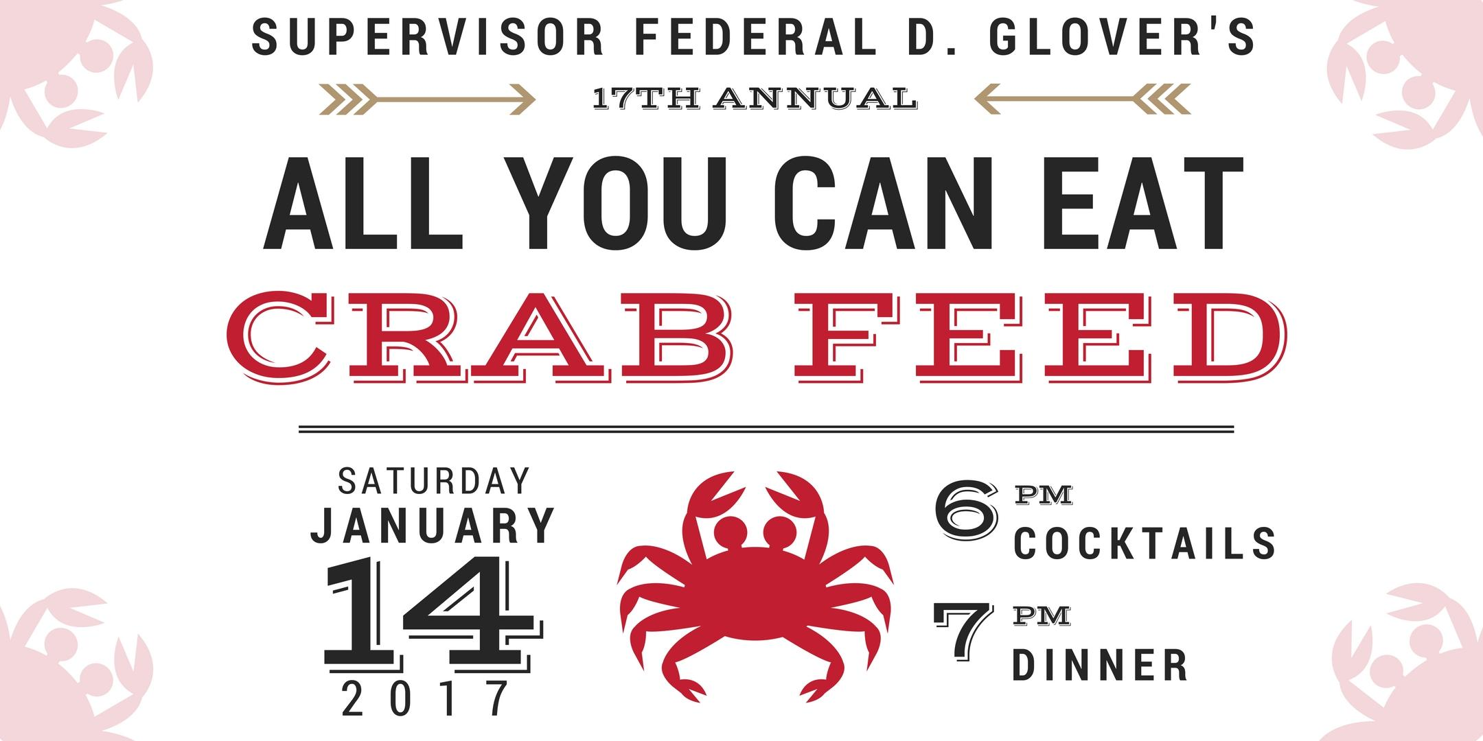 supervisor federal glover s 17th annual crab feed good shepherd supervisor federal glover s 17th annual crab feed