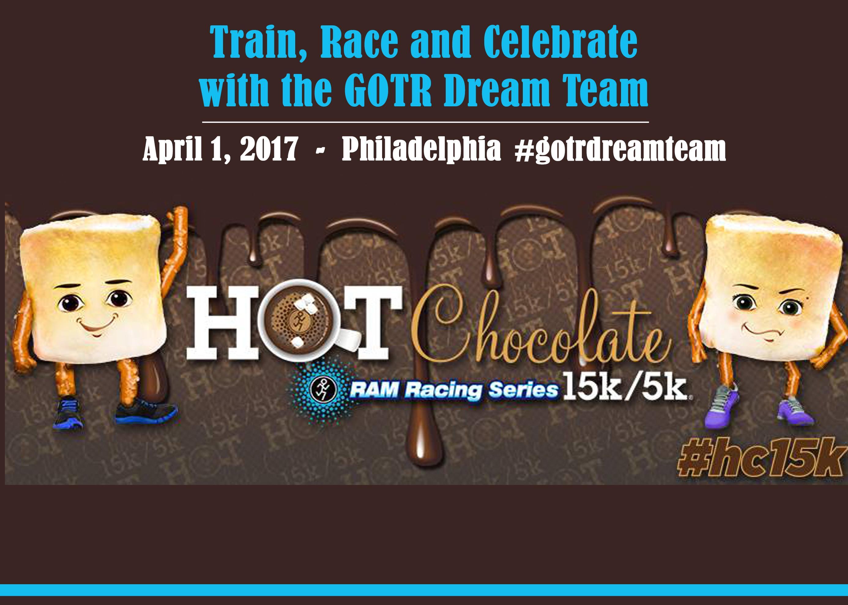 GOTR Dream Team at the Philadelphia Hot Chocolate 5k/15k @ Eakins ...