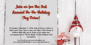 3rd Annual Ho-Ho-Holiday Toy Drive!