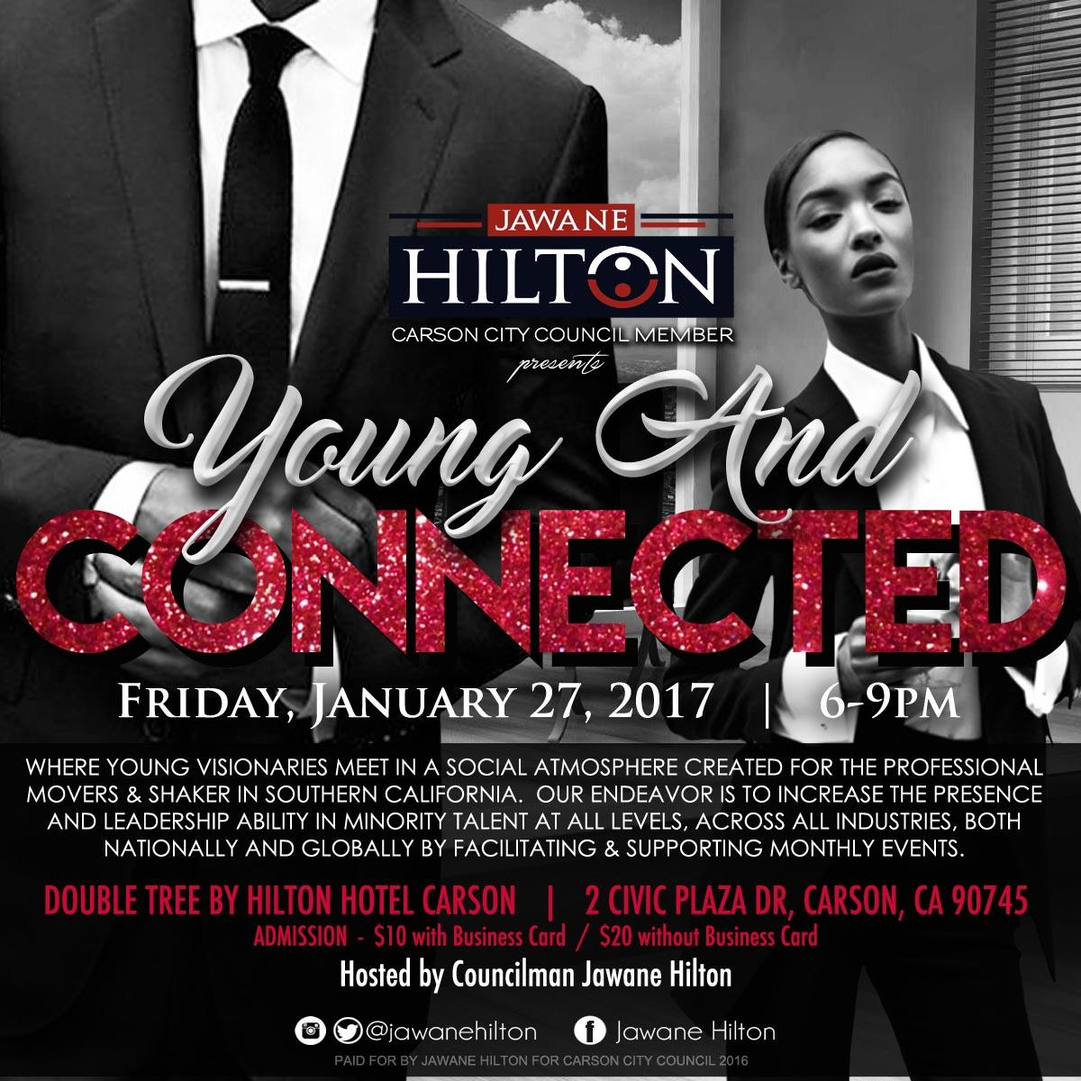 young and connected @ doubletreehilton hotel carson - 27 jan 2017