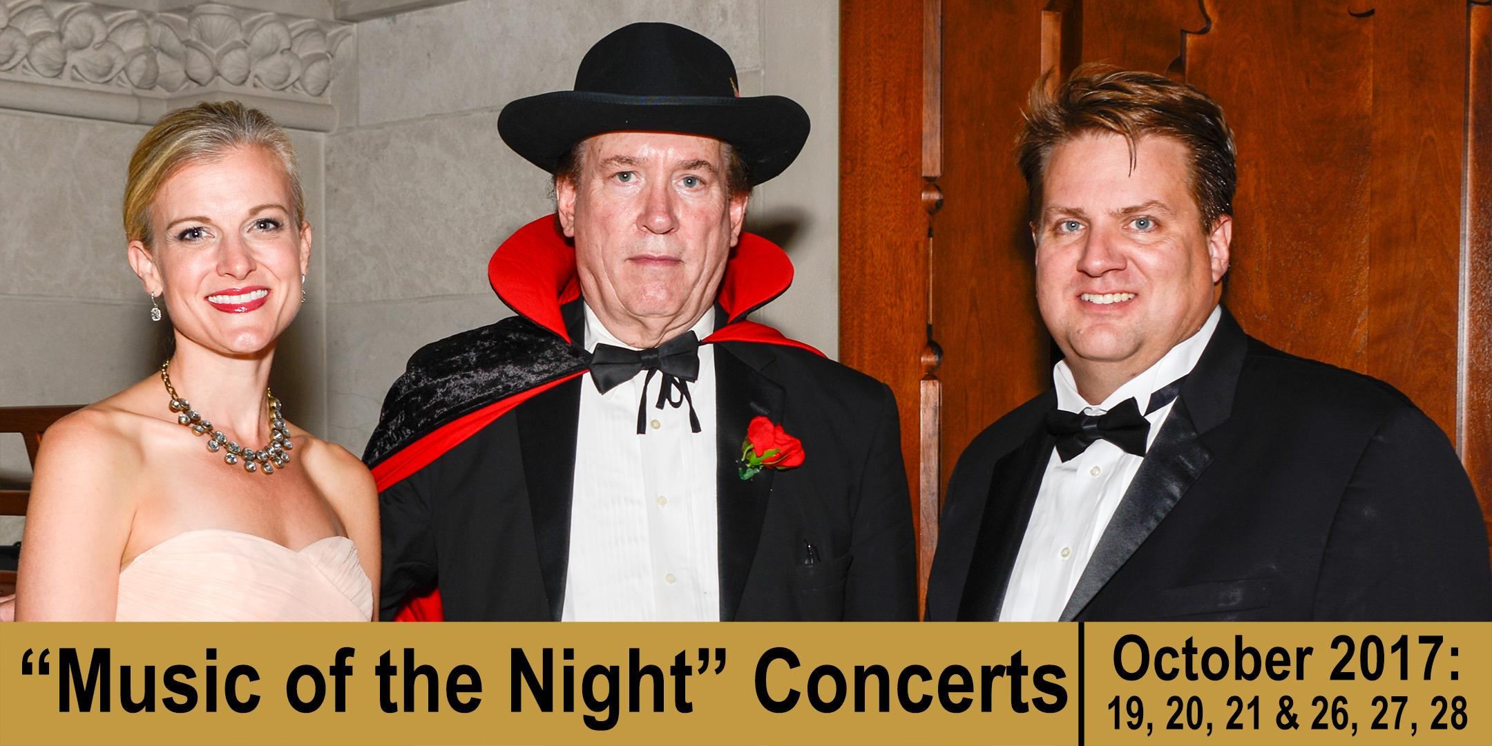 """""""Music of the Night"""" Concert (SATURDAY, 10/28/17)"""