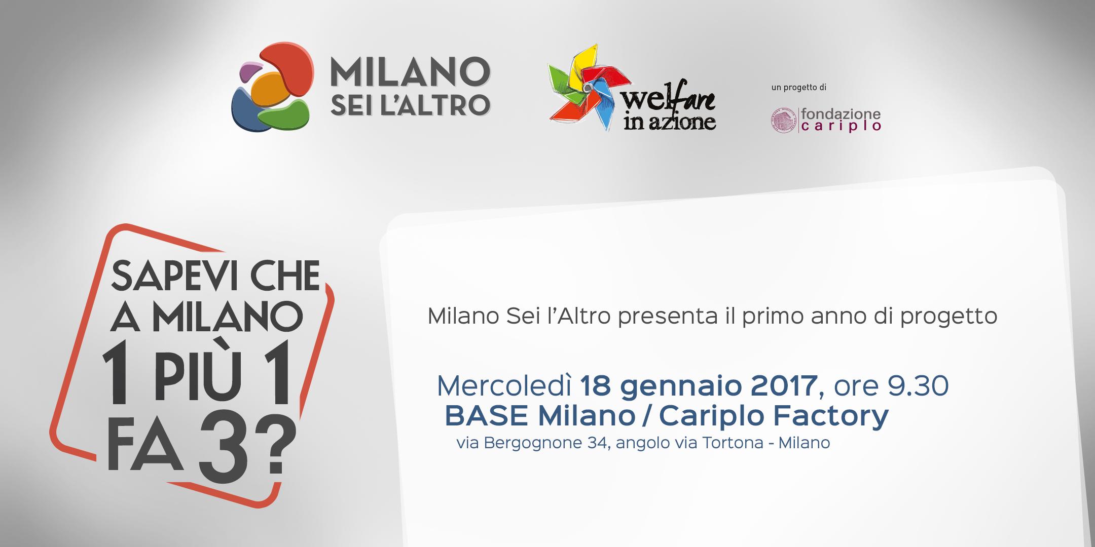 Milano Sei l'Altro presenta il primo anno di