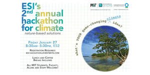 ESI's 2nd Annual Hackathon for Climate