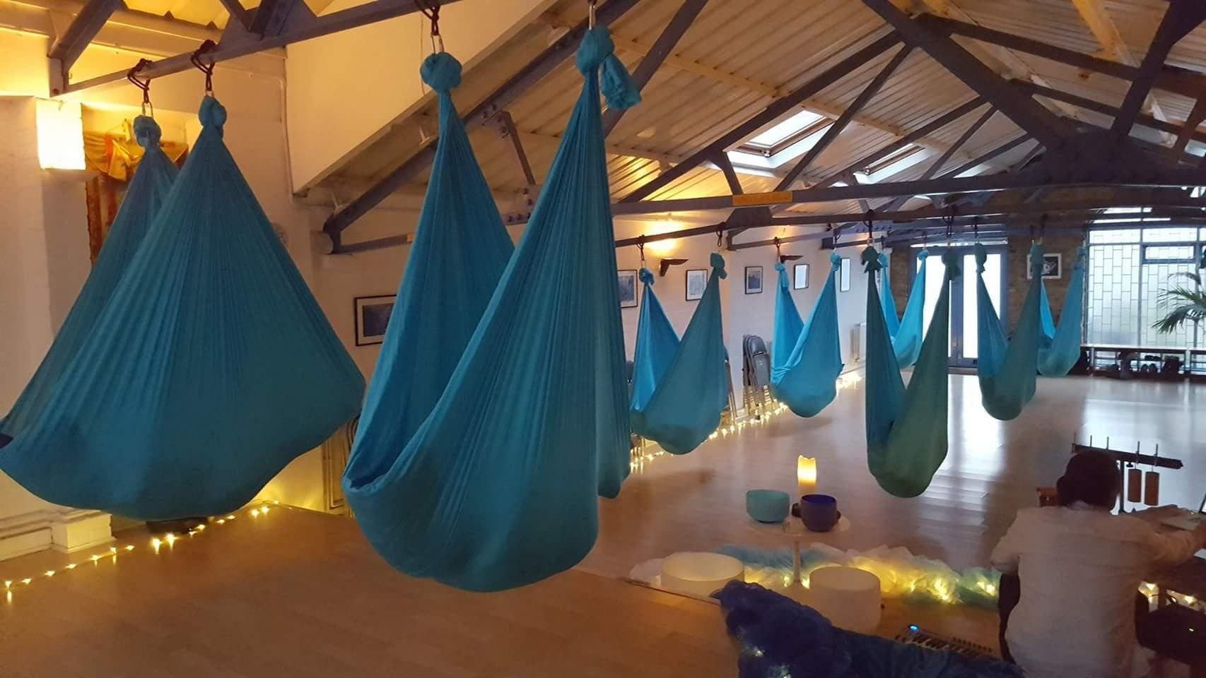 8:30-10pm Aerial Relaxation Pods… with live ambient music!