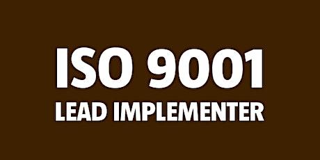 ISO 9001 Lead Implementer billets