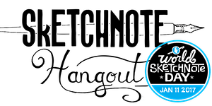Sketchnote Hangout + #SNDay2017: Live January's 2017...