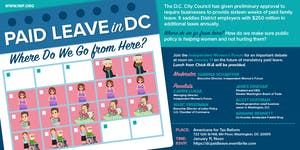 Paid Leave in DC: Where Do We Go from Here?