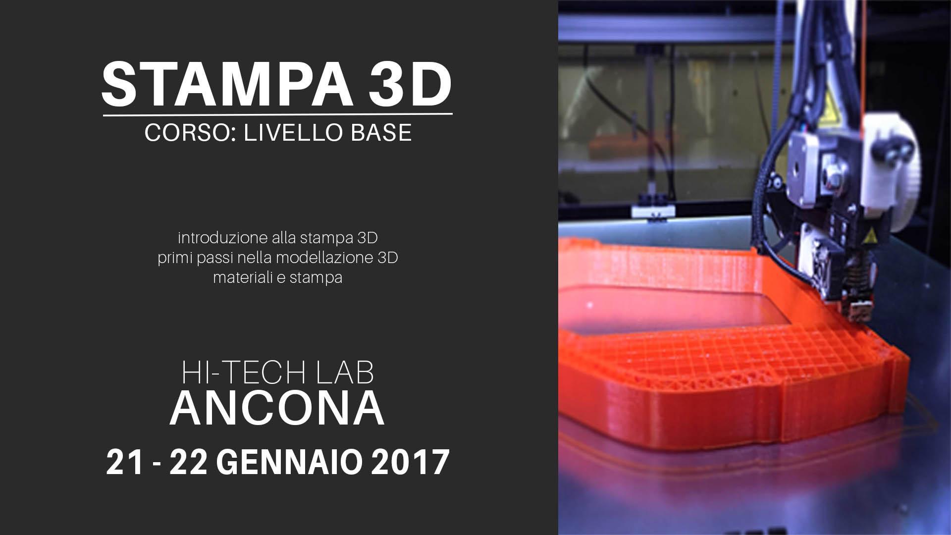 Corso stampa 3D: livello base