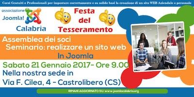 Festa del tesseramento Joomla Calabria