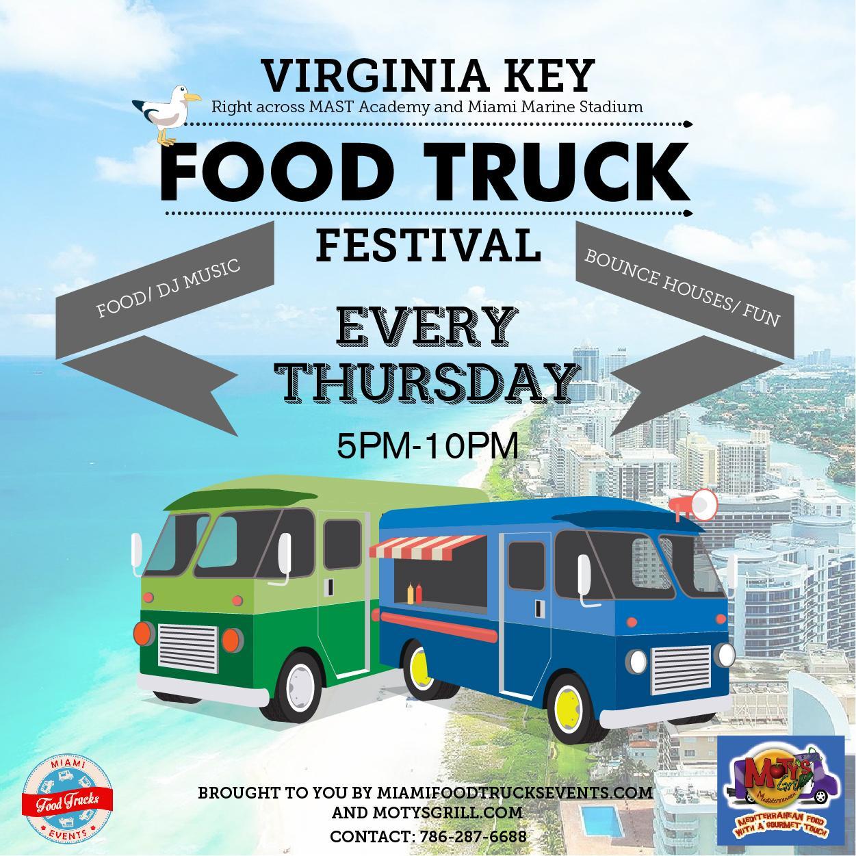 Food trucks festival Virginia key . Food trucks festival Virginia key