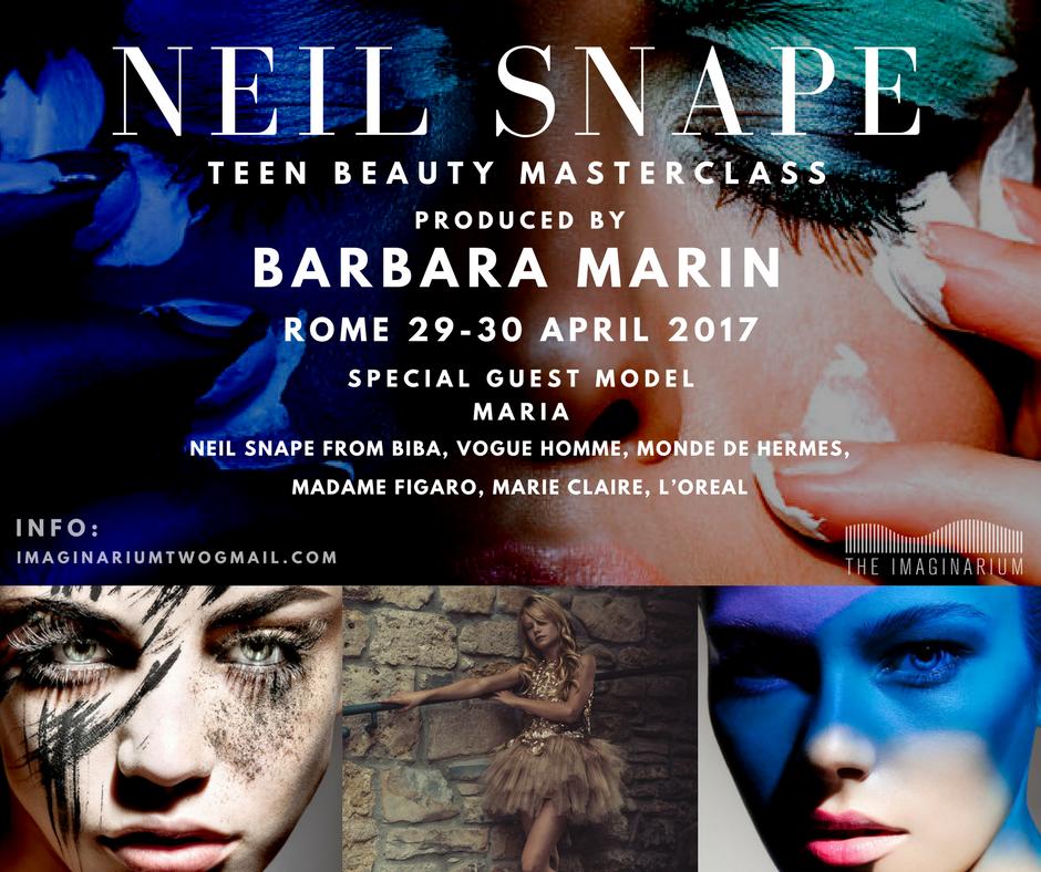 Neil Snape Teen beauty Masterclass in Rome