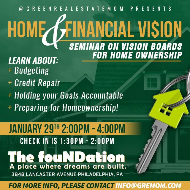 2017 Home and Financial Vision Board Seminar