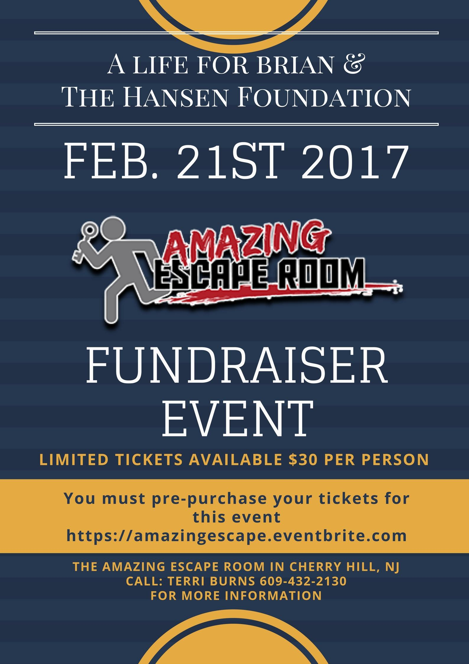 The Amazing Escape Room Fundraising Event